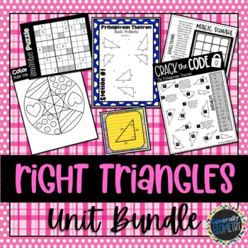 Right Triangles Unit Bundle; Geometry, Pythagorean, Special Right, Trig