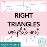 Right Triangles Unit Bundle--with Editable Test!!