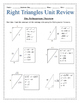 Right Triangles Unit Review