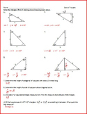 Right Triangles With and Without Trig (WS)
