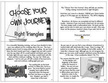 """Right Triangles and Trigonometry: """"Choose Your Own Journey"""" Book"""