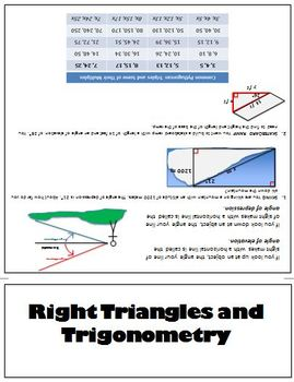 Right Triangles and Trigonometry Flipbook