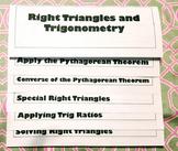 Right Triangles and Trigonometry Flipbook