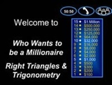 Right Triangles and Trigonometry - Game