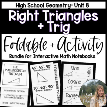 Right Triangles and Trigonometry (Geometry Foldable Bundle #6)