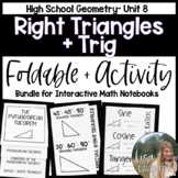Right Triangles and Trigonometry (Geometry Foldable Bundle #8)