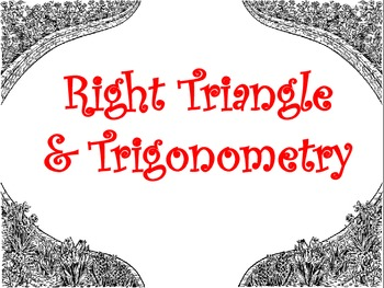 Right Triangles and Trigonometry Posters
