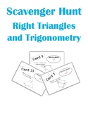 Right Triangles and Trigonometry Scavenger Hunt Activity