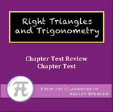 Right Triangles and Trigonometry Test