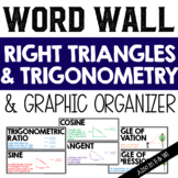 Right Triangles and Trigonometry Vocabulary Word Wall & Graphic Organizer