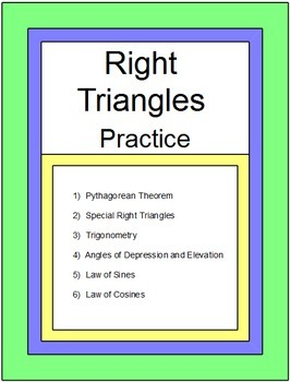 Triangles - Right Triangles and Trigonometry for Common Core