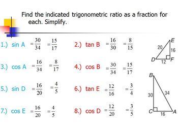 Right Triganle Trig Ratios (PP)