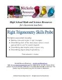 Right Trigonometry Skills Probe