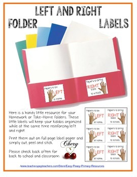 Right and Left Folder Labels