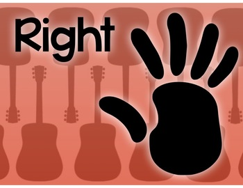 Right Hand and Left Posters to help students remember directions