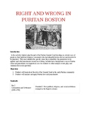 Right and Wrong in Puritan Boston