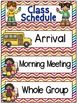 Right on Schedule Classroom Schedule Display Cards ~ Rainbow Chevron