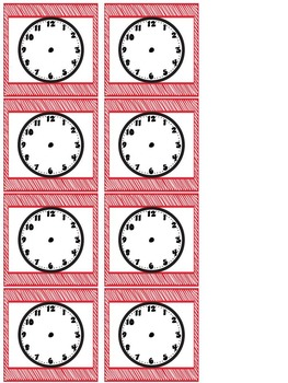 Right on Schedule Classroom Schedule Display Cards ~ Red/Apple Theme