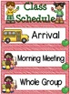 Right on Schedule Classroom Schedule Display Cards ~ Red/A