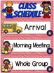 Right on Schedule Classroom Schedule Display Cards ~ Superhero Theme