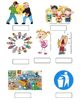 Right or Wrong Classroom behaviour printable worksheet