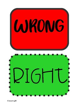 Right or Wrong cards