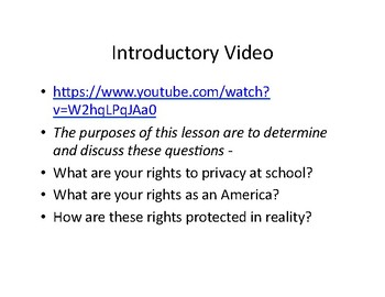 Right to Privacy:  The Fourth Amendment in Theory and Practice