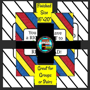 Right to Read Small Group Collaboration Poster Great for Library Month