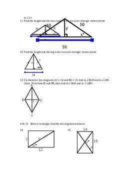 Right triangle trigonometry (SOH-CAH-TOA)