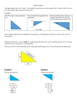 Right triangles