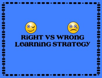 Right vs Wrong Cooperative Learning Strategy