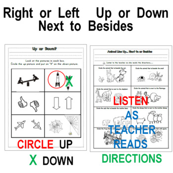 Right or Left, Up or Down, Next To, Besides