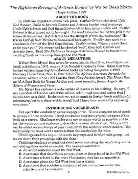 Righteous Revenge of Artemis Bonner Literature Guide