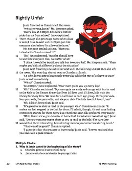 Rightly Unfair - Literary Text Test Prep