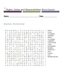 Rights, Duties and Responsibilities Word Search