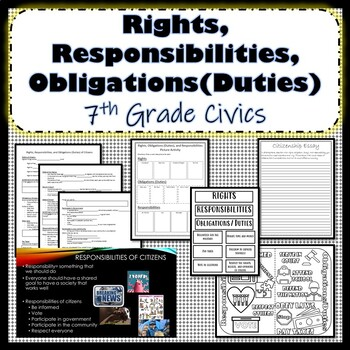 Rights, Responsibilities, Duties of Citizens Bundle SS.7.C.2.2 SS.7.C.2.3
