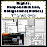 Rights, Responsibilities, Duties of Citizens Bundle SS.7.C