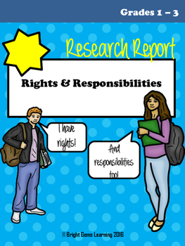 Rights & Responsibilities Project Booklet - Bright Gems Learning