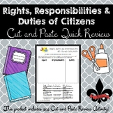 Rights, Responsibilities, and Duties of Citizens Cut and Paste Review--NO PREP