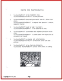 Rights and Responsibilities- Beginning of the Year Handout