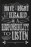 Rights and Responsibilities Chalkboard theme