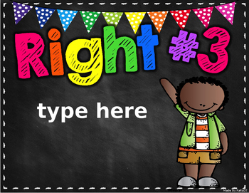 Rights and Responsibilities Custom Order