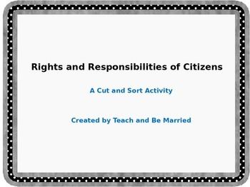 Rights and Responsibilities Cut and Sort