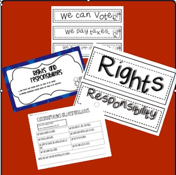 Rights and Responsibilities Pocket Chart Sort