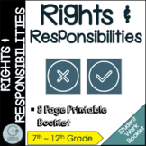 Rights and Responsibilities Student Work Booklet & Activities