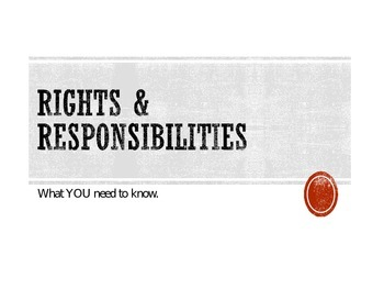 Rights and Responsibilities (disabilities) from the book 7 Steps to Success