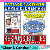 Responsibilities of Citizens: Reading Passage and Questions