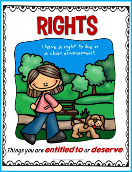 Rights and Responsibilities of a Child {Posters and Notebook Sheets - 47 pages}