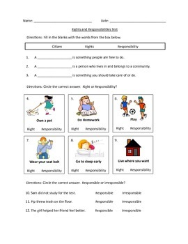 Rights and Responsibility Test