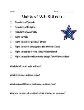 Rights and United States Citizens